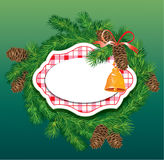 Christmas and New Year background - fir tree branc Royalty Free Stock Images