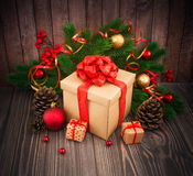 Christmas or New Year background Stock Image