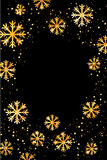 Christmas or New Year background with golden snowflakes. Abstract  illustration. Easy  modern template. Christmas background. Abstract  illustration with Stock Photography