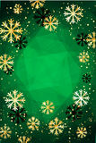 Christmas or New Year background with golden snowflakes. Abstract  illustration. Easy  modern template. Christmas background. Abstract  illustration with Royalty Free Stock Images