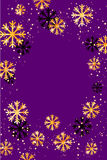 Christmas or New Year background with golden snowflakes. Abstract  illustration. Easy  modern template. Christmas background. Abstract  illustration with Royalty Free Stock Photography