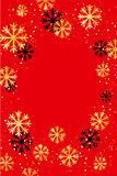 Christmas or New Year background with golden snowflakes. Abstract  illustration. Easy  modern template. Christmas background. Abstract  illustration with Stock Photo