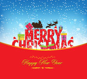 Christmas and new year background. Happy new year background and greeting card design Royalty Free Stock Photos