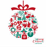Christmas and new year background. Royalty Free Stock Photo