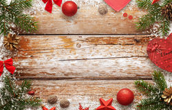 Christmas New Year background image for greeting card text. Stock Image