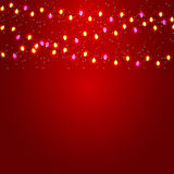 Christmas and New Year  Background with Luminous Stock Photography
