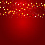 Christmas and New Year  Background with Luminous Stock Images