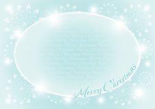 Christmas and New Year background with oval Frame Royalty Free Stock Photos