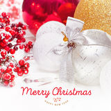 Christmas and New Year background 2017 Royalty Free Stock Photos