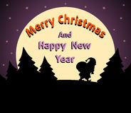 Christmas and New Year background purple Royalty Free Stock Image