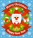 Christmas and New Year background with Santa Claus Stock Photo