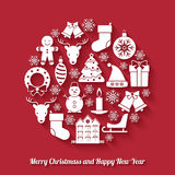 Christmas and New Year background set on background Stock Images