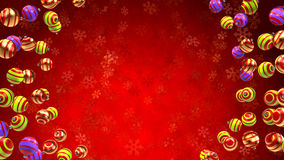 Christmas and new year background. With snow and ornaments Royalty Free Stock Image