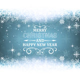 Christmas and New Year background with snow theme. Stock Photo