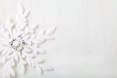 Christmas and New Year background. Snowflake . Copy space. Royalty Free Stock Photos