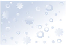Christmas and New Year background with snowflakes Stock Photo