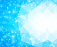 Christmas and New Year background. With snowflakes Royalty Free Stock Photography