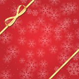 Christmas and New Year background with snowflakes Stock Photography