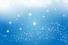 Christmas and New Year background with snowflakes and light effects on a blue background. Flat vector illustration EPS10.  vector illustration