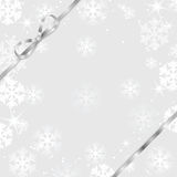 Christmas and New Year background with snowflakes Stock Image