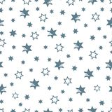 Christmas and New Year 2019 background with stars. Seamless pattern with stars. Christmas and New Year 2019 background. Design for packaging paper, fabric and royalty free illustration