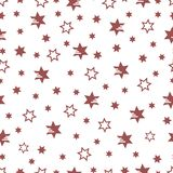 Christmas and New Year 2019 background with stars. Seamless pattern with stars. Christmas and New Year 2019 background. Design for packaging paper, fabric and stock illustration