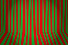 Christmas and new year background striped room in red and green. Vector illustration stock illustration