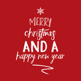 Christmas and New Year background. With typography design royalty free illustration
