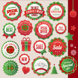 Christmas and New Year badges and elements