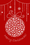Christmas and New year ball made from snowflakes. For postcard, banner, invitation Stock Photography