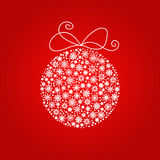 Christmas and New year ball made from snowflakes. Square format Stock Photos