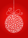 Christmas and New year ball made from snowflakes. Vector background. Christmas and New year ball made from snowflakes Stock Images