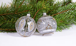 Christmas and New Year balls Stock Photos