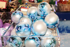 Christmas New Year balls decor Royalty Free Stock Images