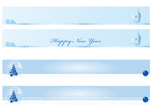 Christmas and new year banner. Light blue collection Royalty Free Illustration