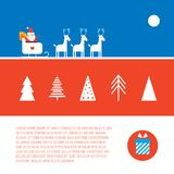 Christmas and New Year banner set Modern flat style Stock Photography