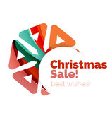 Christmas and New Year banner. Vector illustration Royalty Free Stock Photography