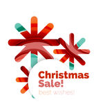 Christmas and New Year banner. Vector illustration Royalty Free Stock Image