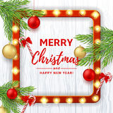 Christmas or New Year banner Stock Images