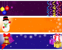 Christmas and new year banners. Stock Images