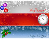 Christmas and new year banners. Stock Photography