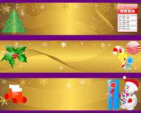 Christmas and new year banners. Royalty Free Stock Photo