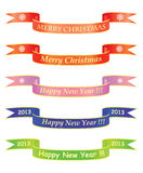 Christmas and New Year banners. Merry Christmas and Happy New Year banners Stock Image