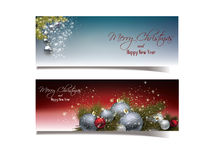 Christmas&New Year  Banners Royalty Free Stock Image