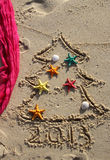 Christmas and New Year on the beach Royalty Free Stock Images