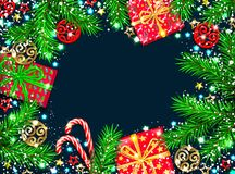 Christmas and new year beautiful background Royalty Free Illustration