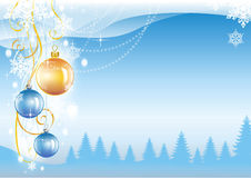Christmas and New Year beautiful card Royalty Free Stock Photo