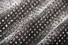 Christmas New Year Black and Silver Glitter background. Stock Photography
