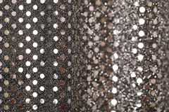 Christmas New Year Black and Silver Glitter background. Holiday abstract texture fabric Stock Images
