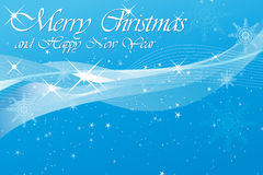 Christmas/new year blue background Stock Images